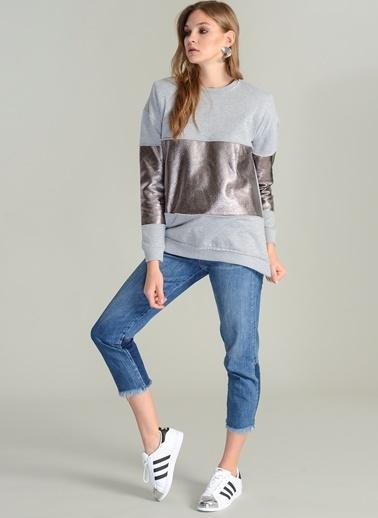 Metalik Detaylı Sweatshirt-Agenda